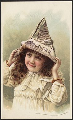What came from the newspaper hat [front] by Boston Public Library, via Flickr