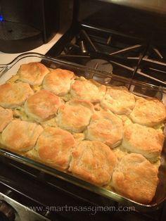 30 Minute Chicken & Biscuits Casserole