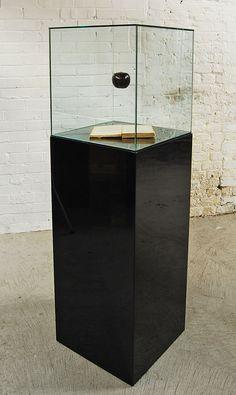 Paul Fryer  For The Time being  Annihilation Impossible, 2007 (Vitirne, composite apple, book, Kevlar thread, Oak veneered plinth)  1450mm x 405mm x 405mm