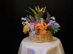 Cheerful basket of beautiful silk flowers. by ThePlushPetal