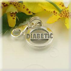 MEDICAL ID ALERT Sterling Silver Diabetic Charm | eBay