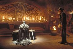 Indiana Jones: The Last Crusade ~Ancient guardian of The Holy Grail ( faithful to his task since medieval times ) kneels at the altar