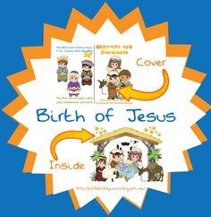 Birth of Jesus Cut & Glue Mini Book