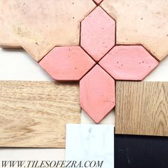 TILES OF EZRA LOVES   Our clay collective star rhombus floor tile. Customise this design with any specific colour that you want... Colour Samples coming in to the showroom soon!   Get these tiles!  Contact us!   Www.tilesofezra.com Info@tilesofezra.com Floor Finishes, Country Homes, Textures Patterns, Powder Room, Showroom, Tile Floor, Nest, Marble, Hardware