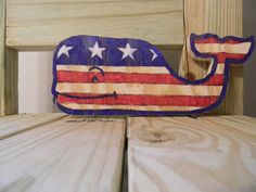 Vineyard Vines inspired whale sign decor patriotic by GatsbyTimber, $17.00