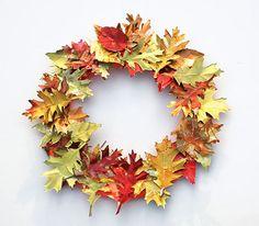 Simple et joli !   Une couronne d'automne DIY