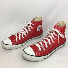 f011f2027f39c4 Converse All Star Red High Top Tennis Shoe Women 8 Men 11 Chuck Taylor  Unisex