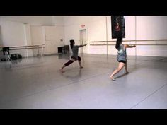 Balance Study for Horton Technique Modern Dance Class - YouTube