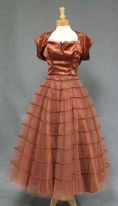 Vintageous, LLC - Emma Domb Copper Satin