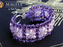 ✿紫色レースビーズブレスレット✿