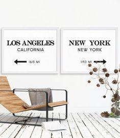 LA Print NYC Art Print Extra Large Art Home by MetropolisPrints
