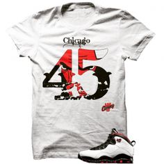 "Double Nickle Chicago 10s White T Shirt. The Double Nickle Chicago 10s White T Shirt is a premium quality sneakerhead t shirt. It matches with the Air Jordan 10 Retro ""Chicago"" Sneakers. *************************************************************** FOLLOW US ON INSTAGRAM: @illCurrency FOLLOW US ON TWITTER: @ill_Currency LIKE US ON FACEBOOK: facebook.com/illcurrency FOLLOW US ON PINTREST: pinterest.com/illcurrency"