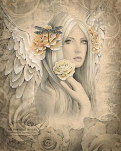 Vintage Inspired Angel by Jessica Galbreth