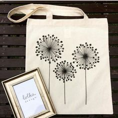 Dandelion print Canvas Totebag