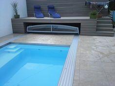 Flache Poolüberdachungen bzw. Kuppeln für Schwimmbecken