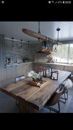 Living Room Interior, Kitchen Interior, Modern Interior, Living Room Decor, Interior Styling, Rustic Kitchen, Kitchen Decor, Rustic Table, Wooden Tables