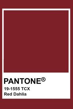 Pantone Red Dahlia #dahlia #pantone