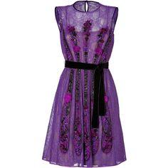ALBERTA FERRETTI Lace Dress In Purple (£1,665) ❤ liked on Polyvore featuring dresses, vestidos, short dresses, purple, purple lace cocktail dress, purple cocktail dress, short cocktail dresses, holiday cocktail dresses and evening cocktail dresses