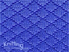 Diamond Brocade - combination of knit and purl stitches