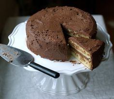 #paleo Yellow Cake: 3 large eggs; 4 T honey; 1 tsp baking soda; 1 tsp vinegar (for the egg whites); 1 T lemon juice; ¼ cup oil (melted coconut oil, unsalted butter, or ghee); 1 T vanilla extract; 1 cup almond flour | Chocolate Frosting: 12 ounces (1½ cups unsweetened chocolate); honey to taste; 1 cup heavy cream OR non-dairy option here: http://glutenfreefix.com/cashew-heavy-cream/1478/