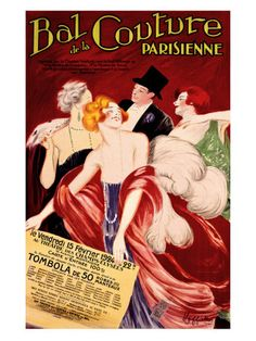 Bal de la Couture Parisienne  by Leonetto Cappiello  Love this.