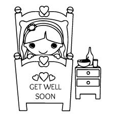 Cool Idea Get Well Printable Coloring Pages Free Printable Get - Get well soon card template