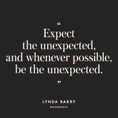Be the unexpected. Join us at www.elizabethrider.com