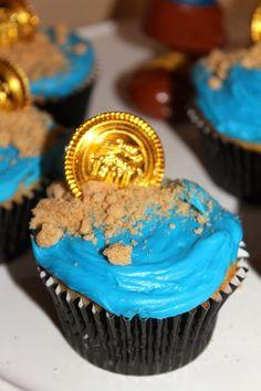 Cupcakes de Jake y Los Piratas de Nunca Jamás.