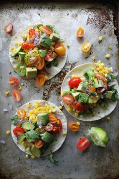 Summer is perfect for all things on tortillas, like these easy, Fresh Corn and Squash Tacos from Heather Christo