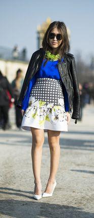 Paris Fashion Week Street Style | graphic prints