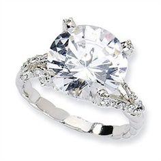 Sterling Silver Fancy #CZ Ring $50.00