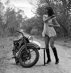 vintage motorcycle woman - Google Search