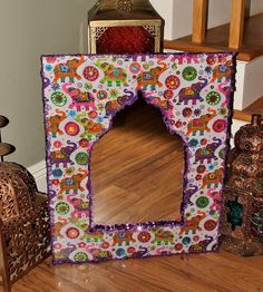 Colorful Indian Elephant Print Moroccan Style Wall by CreoleGypsy, $75.00