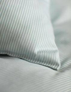 Tiny Stripe Duck Egg Cotton Bedding Set
