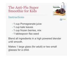 Anti flu smoothie from superhealthykids.com