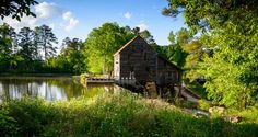 Yates Mill - Raleigh, NC. Unlike the other places on this list, serious actions have been taken to preserve Yates Mill, which rests on the outskirts of Raleigh. The mill rests on a picturesque pond, which slowly flows over a waterfall on the other side of the mill.