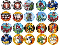 Transformer Rescue Bots Images Cupcake Cookie Toppers