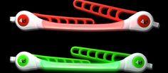 PowerWrapz - Voor zichtbaarheid in het donker. Deze Wrapz zijn multi inzetbaar, op je fiets, helm, stuur, tent, rugzak, skies en paraplu. In het groen en rood. #florismoo www.florismoo.nl