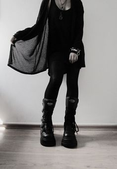 Nu Goth Demonia Boots with Outfit