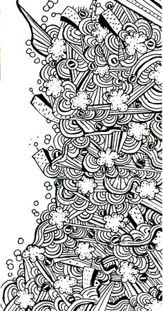 Abstract Line Art by ~Nodoka123 on deviantART Nodoka123 lives in Orlando, Florida. drawing This drawing is a combination of line and shape.  the lines give movement and flow.   I chose this piece because it looks interesting.