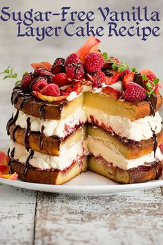 A decadent vanilla layer cake that contains no sugar and no gluten – you must be dreaming, right? No, this is real life, thanks to Carolyn Hartz's Sugar Free Baking book, set for release in October