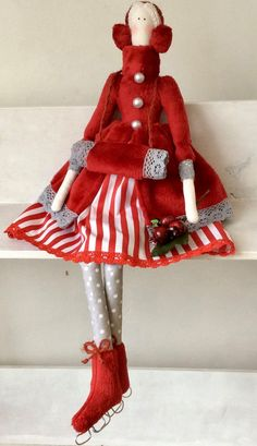 Tilda Skating by TildaTime on Etsy Sewing Crafts, Sewing Projects, Tilda Toy, Rag Quilt, Doll Maker, Fabric Dolls, Doll Patterns, Beautiful Dolls, Crochet Toys