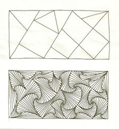 Enthusiastic Artist: PARADOX, and then some.............THEN SOME #3: The triangles or squares you use don't all have to meet neatly at the corners. Interesting things happen when they're placed randomly. You can also use a mix of triangles and squares.
