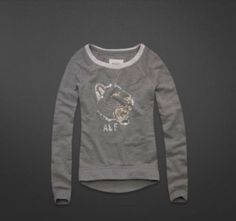 Abercrombie Fitch Womans Ella Sweatshirt Sweater Gray Large | eBay