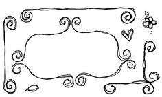 doodled frames