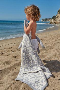 Barefoot Dreams In The Wild Leopard Ocean/Cream Baby Blanket