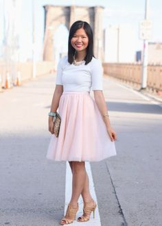 Jupon en tulle : Jen from Skirt the Rules Blog looking amazing in L. Mae Boutiques Pink Tulle