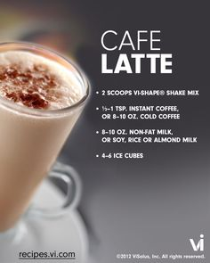 """Pin to Win"" ViSalus Recipe 'Pin to Win' contest to win a ViSalus Fit Kit! This month's recipe is Café Latte, the perfect shake to start your day! Want to enter too? Click here http://blog.visalus.com/pin-to-win-a-visalus-fit-kit/"