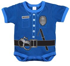 Police Uniform Baby Onsies I have to get this for my nephew! His Dad is a police officer. Too cute!