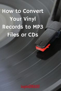 How to Digitize Vinyl Records. This post from Bespoke Genealogy looks at how to convert your vinyl record collection to files and CDs. This can be done cheaply using your existing record deck, your computer and a USB pre-amp. Technology Hacks, Computer Technology, Computer Programming, Computer Tips, Computer Help, Computer Desks, Medical Technology, Energy Technology, Old Records